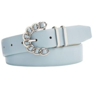 Steve Madden Chain Buckle Belt Light Blue
